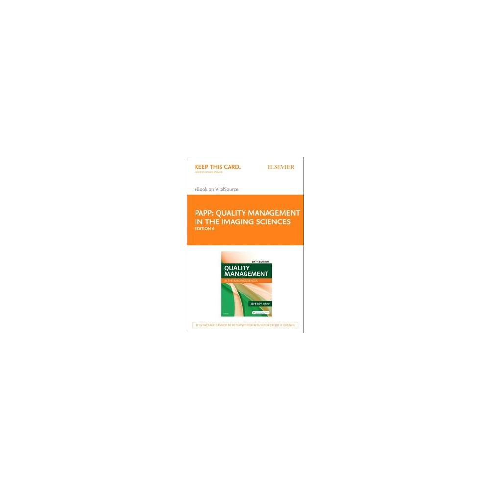 Quality Management in the Imaging Sciences Access Card - 6 Psc by Jeffrey Papp (Hardcover)
