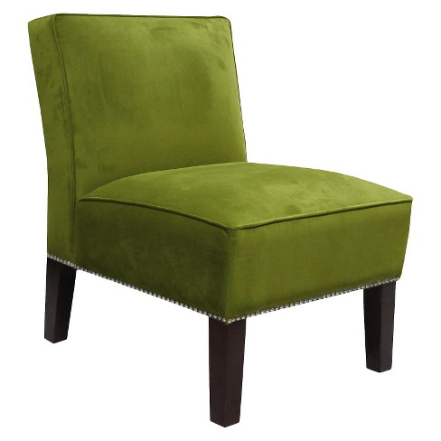 Burke Velvet Slipper Chair with Nailhead Trim - image 1 of 1