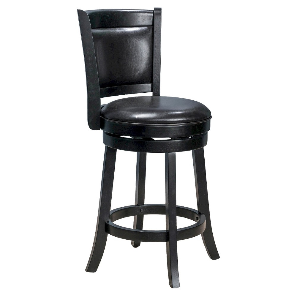 26 Mallik Swivel Counter Stool - Espresso (Brown) Bonded Leather - Christopher Knight Home