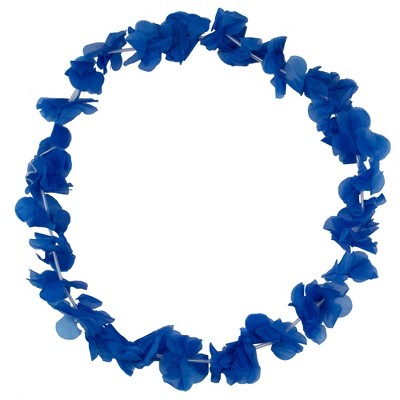 "Northlight 18"" Dark Blue Flower Halloween Lei Costume Accessory"