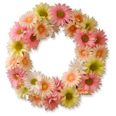 Garden Accents Artificial Cosmos Wreath Pink 19  - National Tree Company®