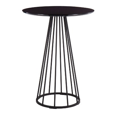 """27"""" Canary Steel MDF Contemporary Glam Round Counter Table - LumiSource"""