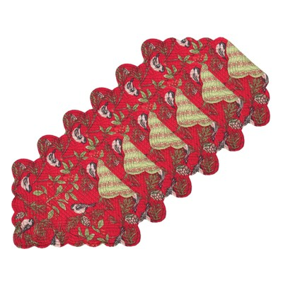C&F Home Chickadee Red Placemat Set of 6