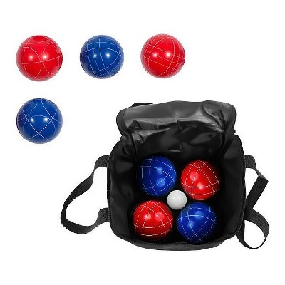 Trademark Innovations 90mm Bocce Ball Premium Set with Carry Case - Red/Blue