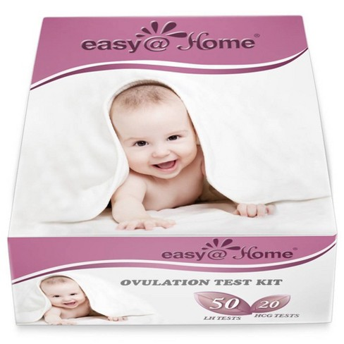 easy@Home 50 Ovulation Test Strips & 20 Pregnancy Test Strips Combo Kit - image 1 of 4