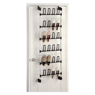 Neu Home Overdoor 12 Pair Shoe Rack Medium Silver