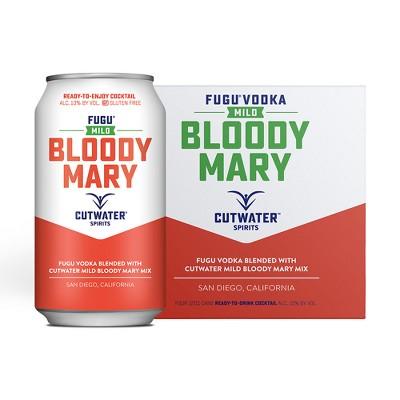 Cutwater Fugu Mild Bloody Mary Cocktail - 4pk/12 fl oz Cans