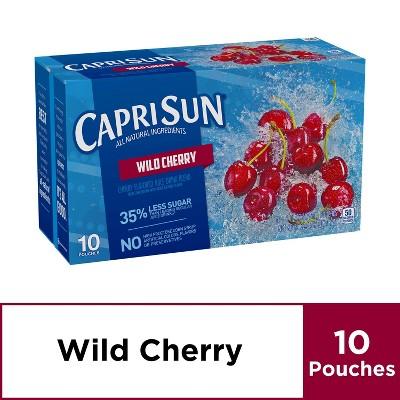 Capri Sun Wild Cherry - 10pk/6 fl oz Pouches