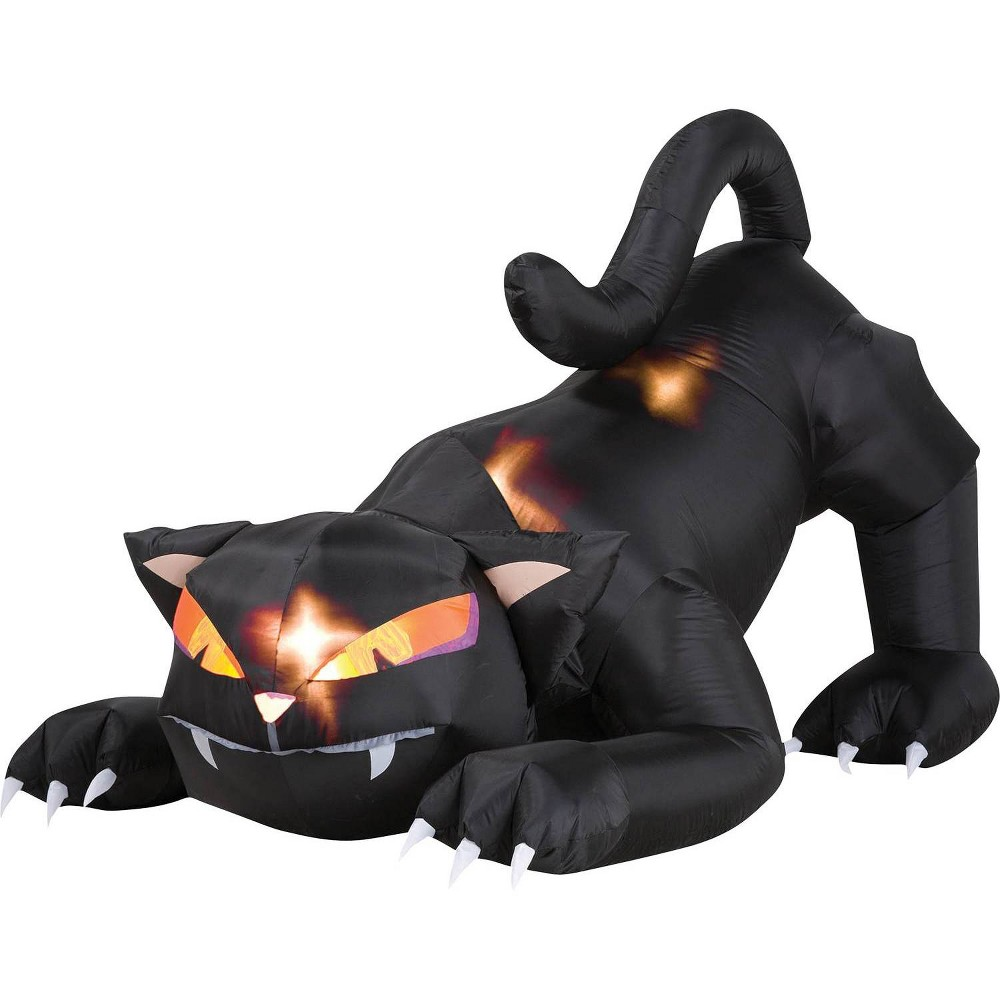 Halloween Black Cat with Turning Head