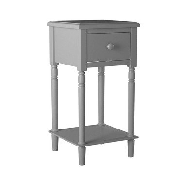 Nova Nightstand with USB Gray - Picket House Furnishings