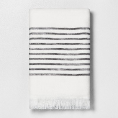 Core Stripe Bath Towel Railroad Gray - Hearth & Hand™ with Magnolia