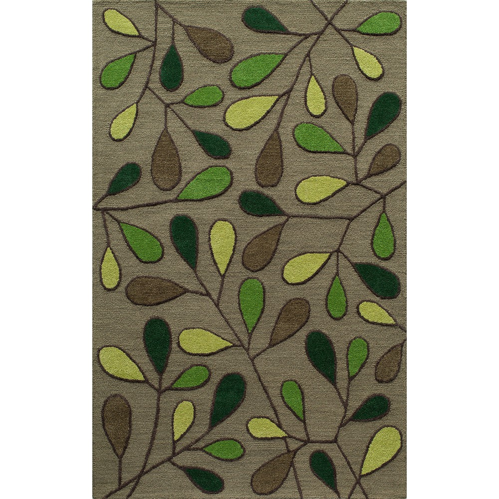 "Image of ""7'6""""X9'6"""" Shapes Area Rug Green"""