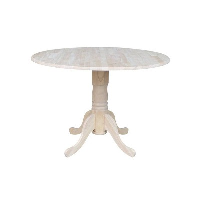 42  Dual Drop Leaf Table Unfinished - International Concepts