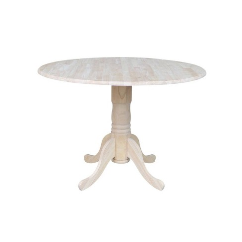 "42"" Dual Drop Leaf Table Unfinished - International Concepts - image 1 of 4"