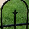 "38"" x 8' Decorative Finial Border Fence 2pc - Black - Sunnydaze Decor - image 3 of 4"