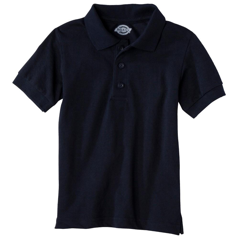 Image of petiteDickies Boys' Short Sleeve Pique Uniform Polo Shirt - Dark Navy L, Boy's, Size: Large, Dark Blue