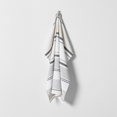 Neutral Striped Flour Sack Kitchen Towel Gray - Hearth & Hand™ with Magnolia