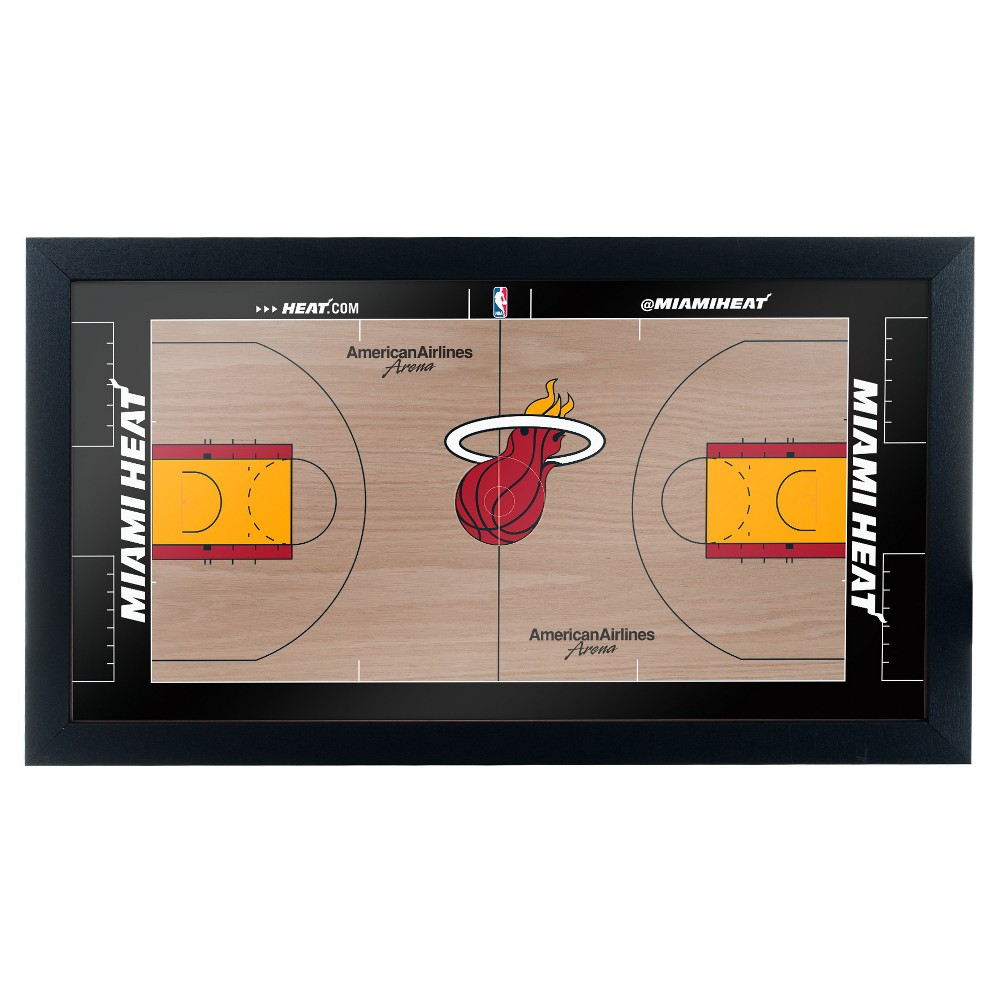 NBA Miami Heat Team Court Framed Plaque