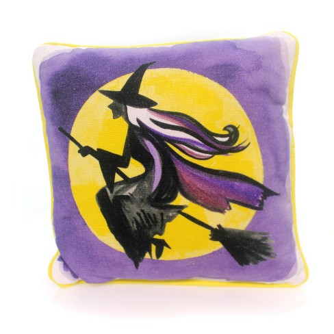 Halloween Flying Witch & Full Moon Pillow Home Decor - image 1 of 2