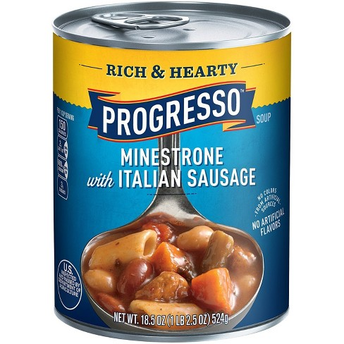 Progresso® Rich & Hearty Minestrone with Italian Sausage Soup 18.5 oz - image 1 of 1