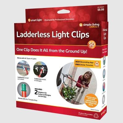 Simple Living Solutions 50ct String Light Ladderless Light Clips
