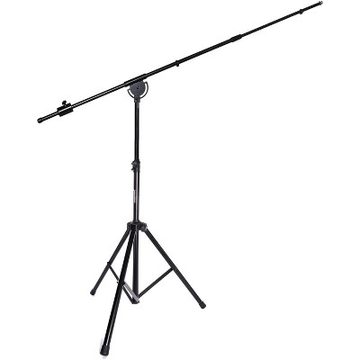 """LyxPro SMT-1 Professional Microphone Stand Heavy Duty 93"""" Studio Overhead Boom Stand 76"""" Extra Long Telescoping Arm Mount, Foldable Tripod Legs & Adjustable Counterweight"""