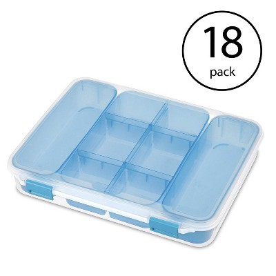 Sterilite 14028606 Divided Storage Case for Crafting and Hardware (18 Pack)