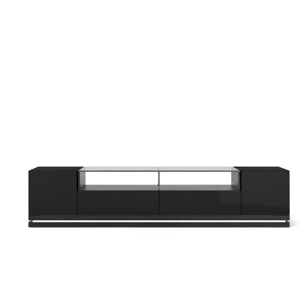 Vanderbilt TV Stand with Led Lights Black - Manhattan Comfort