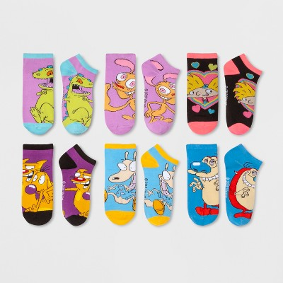 Women's Nickelodeon 6pk Low Cut Socks - Assorted Colors One Size