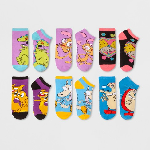 Women's 6pk Nickelodeon Low Cut Socks - Colors May Vary One Size - image 1 of 2