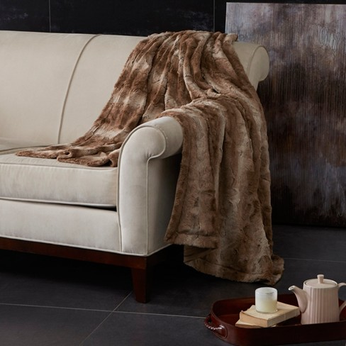 Marselle Oversized Faux Fur Throw - image 1 of 4