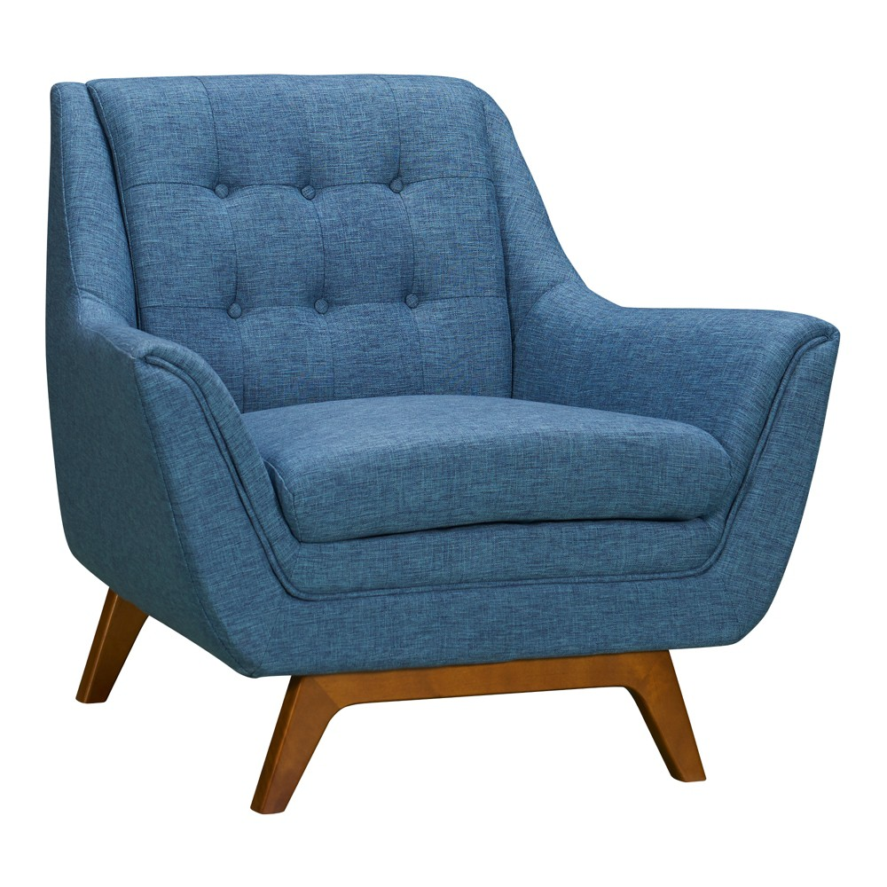 Image of Darna Mid-Century Sofa Chair Blue - Modern Home