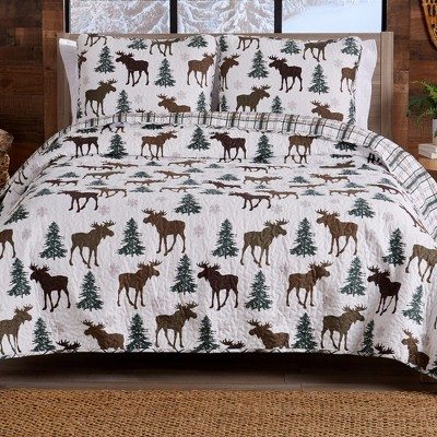 Great Bay Home Wilderness Lodge Reversible Quilt Set