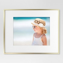Thin Metal Matted Gallery Frame Gold - Project 62™