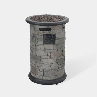 Greystone Round Fire Column - Dark Gray Bond