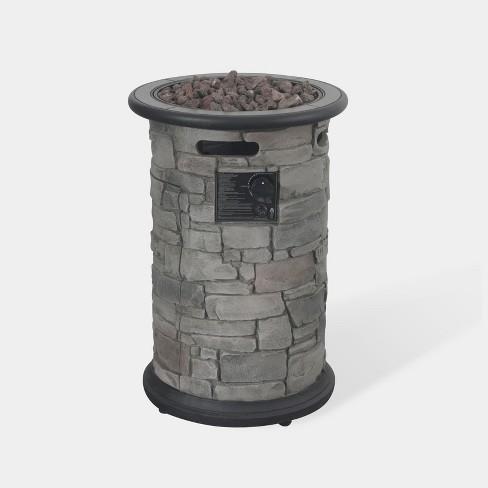 Greystone Round Fire Column - Dark Gray - Bond - image 1 of 2