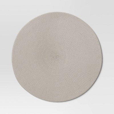 Polyround Charger Placemat Light Gray - Threshold™