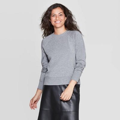 Women's Crewneck Raglan Pullover - A New Day™ Heather Gray S