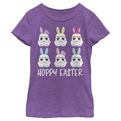 Girl's Star Wars Easter Stormtroopers With Ears Line Up Poster T-Shirt
