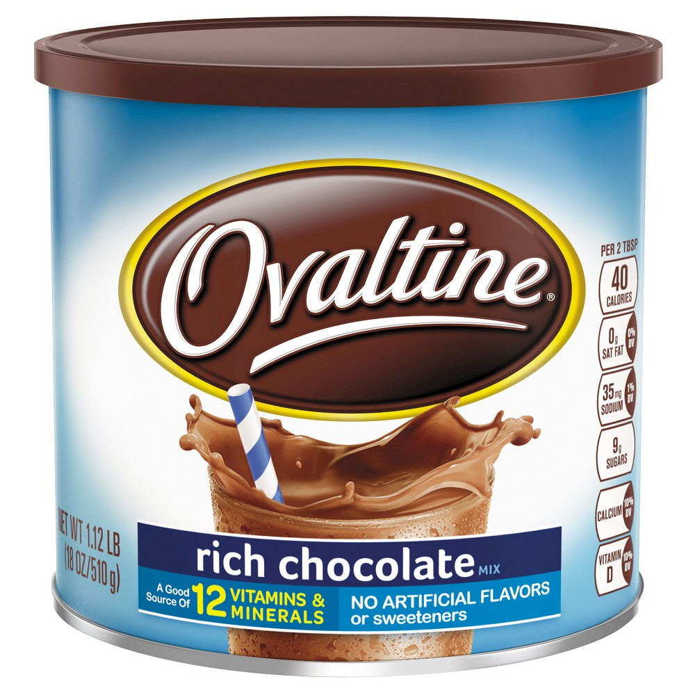 Ovaltine Rich Chocolate Mix - 18oz