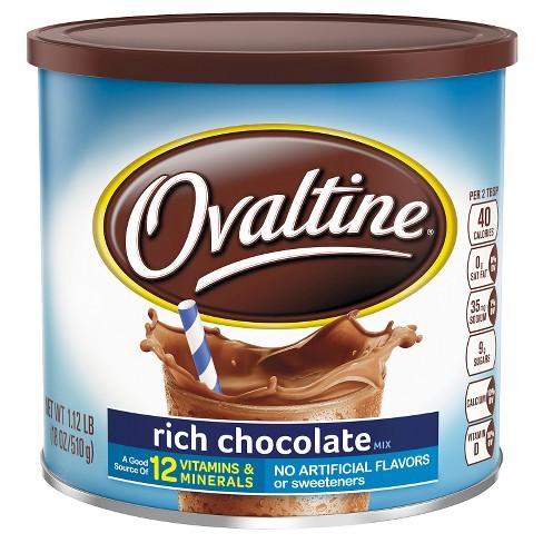 Ovaltine Rich Chocolate Mix - 18oz : Target