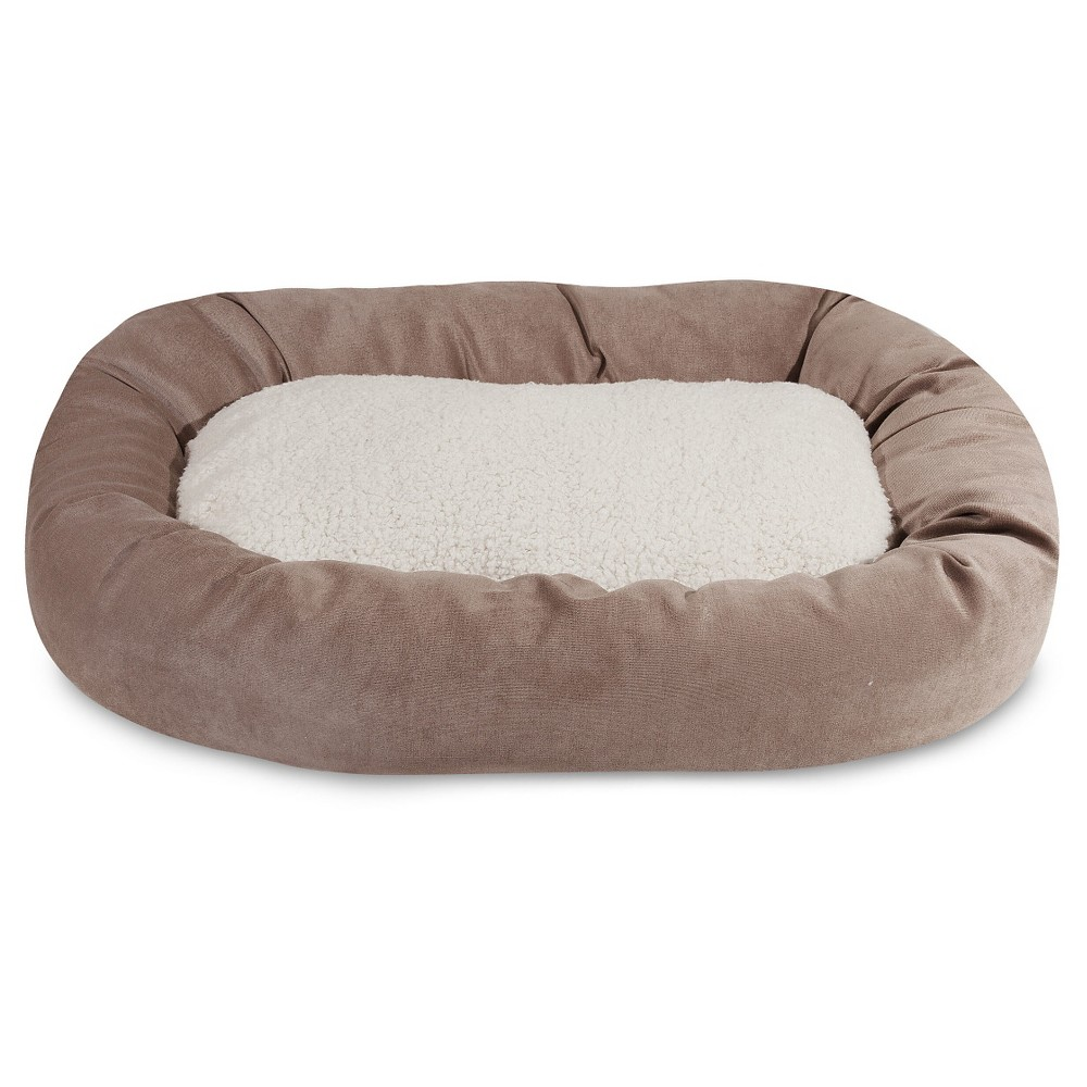 Majestic Pet Villa Sherpa Bagel Dog Bed - Pearl (White) - Large