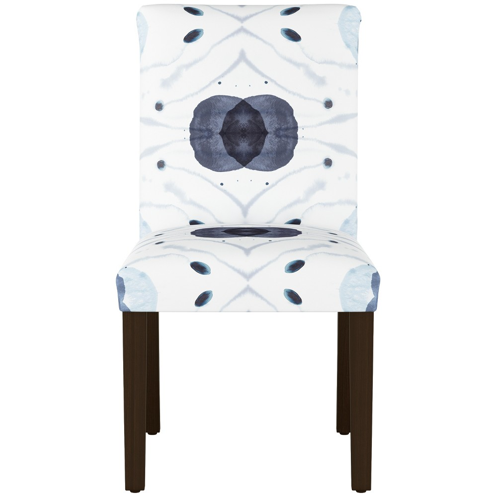 Hendrix Dining Chair with Espresso Legs Blue/White Print - Cloth & Co.