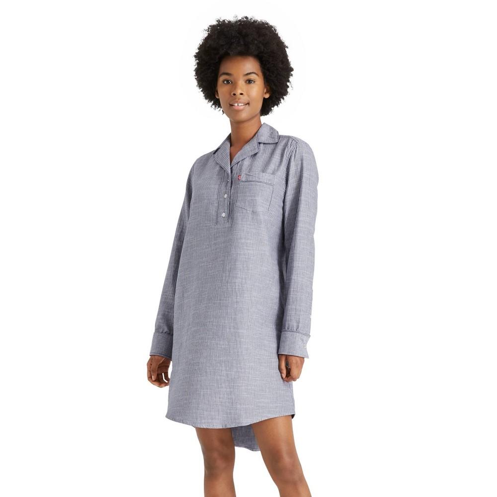 Women 39 S Striped Woven Sleep Shirt Levi 39 S 174 X Target S
