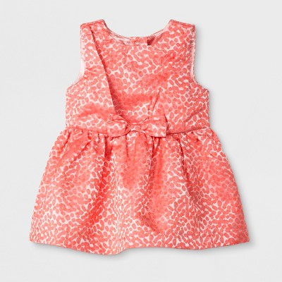 Baby Girls' 2pc Bow Dress with Diaper Cover - Cat & Jack™ Pink 6-9M