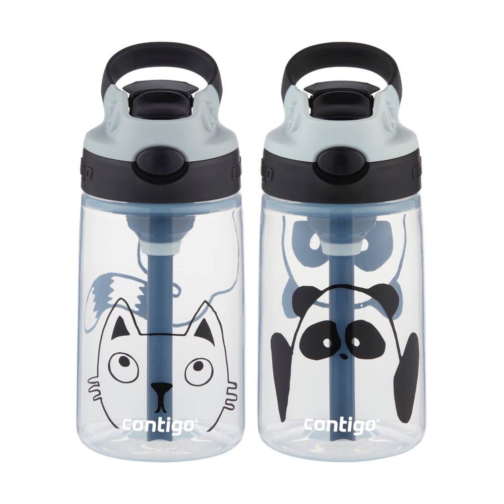 Image of Contigo 14oz 2pk Plastic Kids Autospout Tritan Panda & Cat Water Bottle