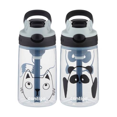 Contigo 14oz 2pk Plastic Kids Autospout Tritan Panda & Cat Water Bottle - image 1 of 4