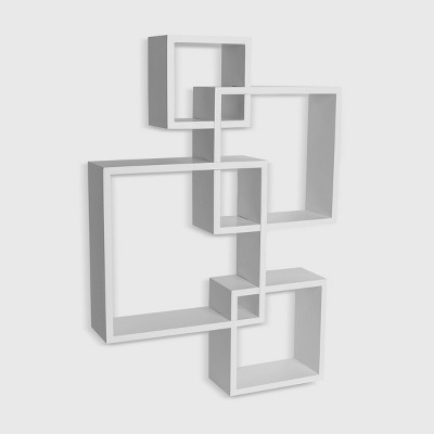 Intersecting Cube Shelves - White - Danya B.