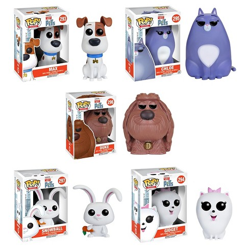 Funko The Secret Life of Pets: POP! Movie Collectors Set; Max, Chloe, Duke, Snowball & Gidget - image 1 of 6