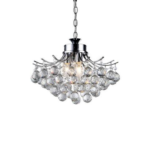 15 X 15 X 7 Roman Crystal 3 Light Chrome Chandelier Silver Warehouse Of Tiffany Target